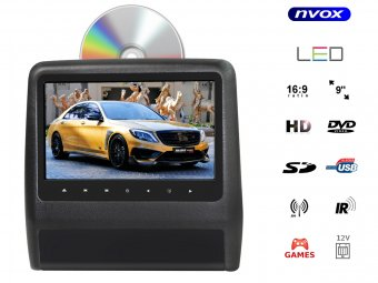 "NVOX DV9099 HD 9"" BLACK"